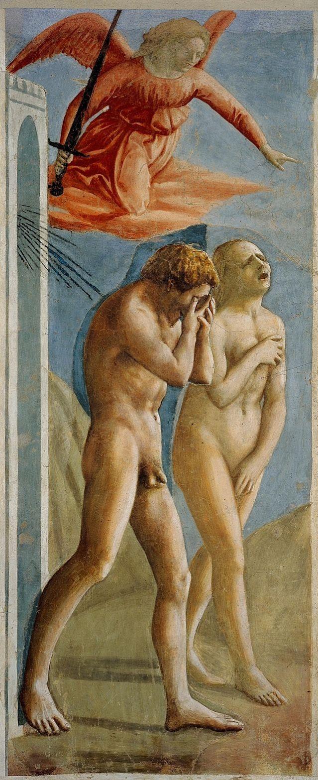 Masaccio: La expulsión de Adán y Eva del Paraíso terrenal. (1425-1428)