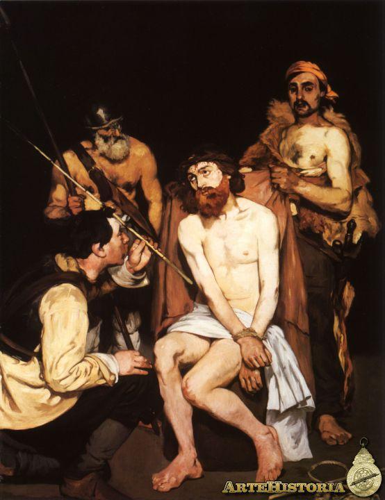 Manet: Cristo escarnecido por tres soldados (1864)