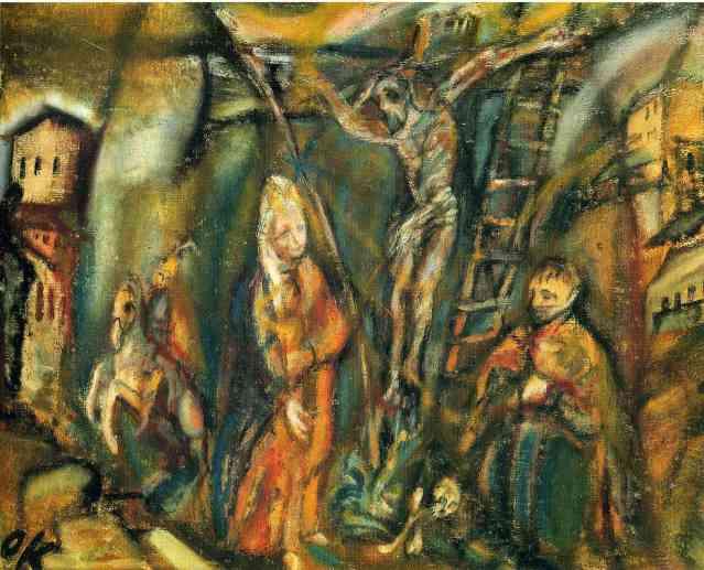 La tentación de Cristo de Oskar Kokoschka
