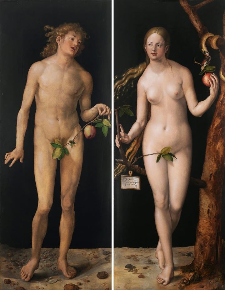 Durero: Adán y Eva (1507) Museo del Prado
