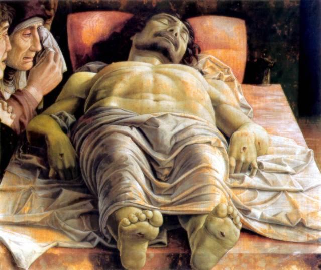Andrea Mantegna: Lamentación sobre Crismo muerto 1501