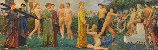 Max Klinger, Cristo sull'Olimpo (particolare) (1896)