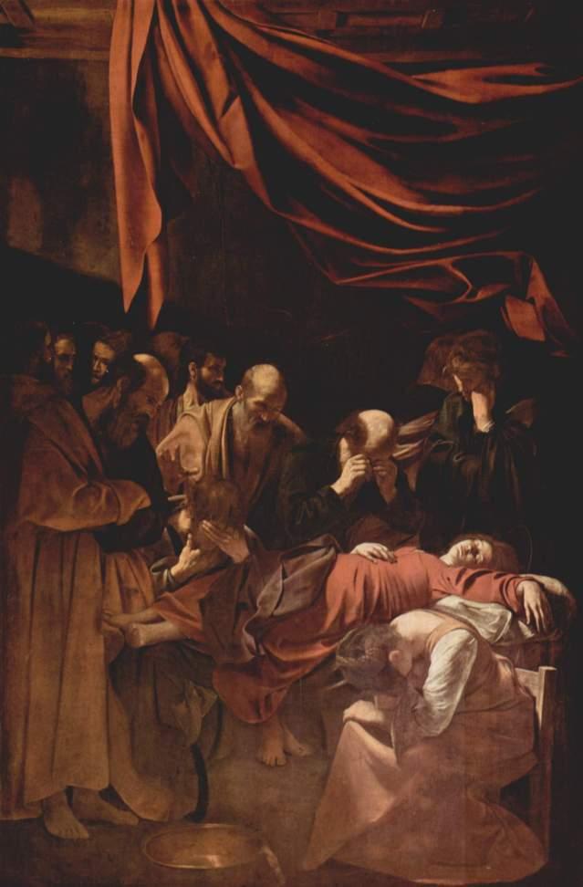 La muerte de la virgen sde Caravaggio