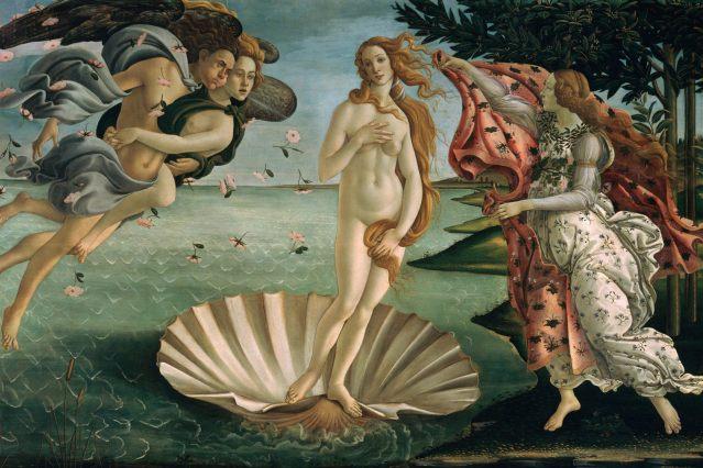 Boticelli: El nacimiento de Venus (1485)