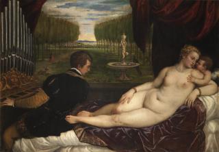 Tiziano: Venus recreándose con el Amor y la Música - Colección - Museo Nacional del Prado