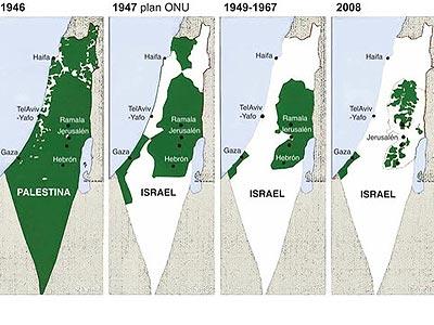 El Estado palestino devorado por Israel desde 1947