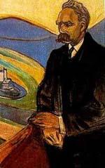 Retrato de Friedrich Nietzsche por E. Munch