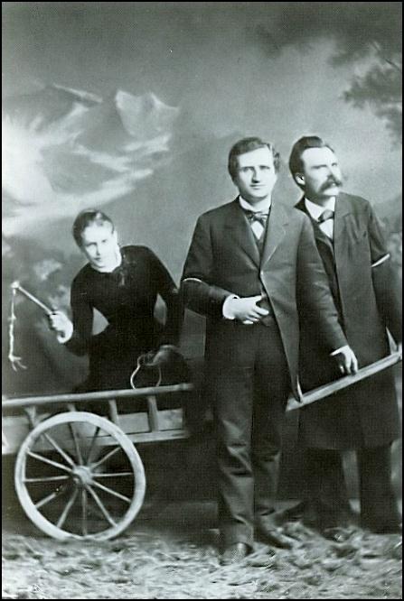 Lou von Salomé, Paul Reé y Friedrich Nietsche.