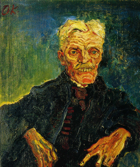 Oskar Kokoschka. Hombre viejo. 1907.
