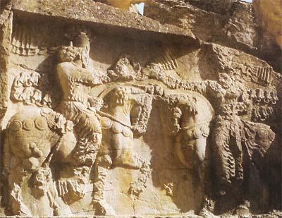 Ahura Mazda corona a Sapor I