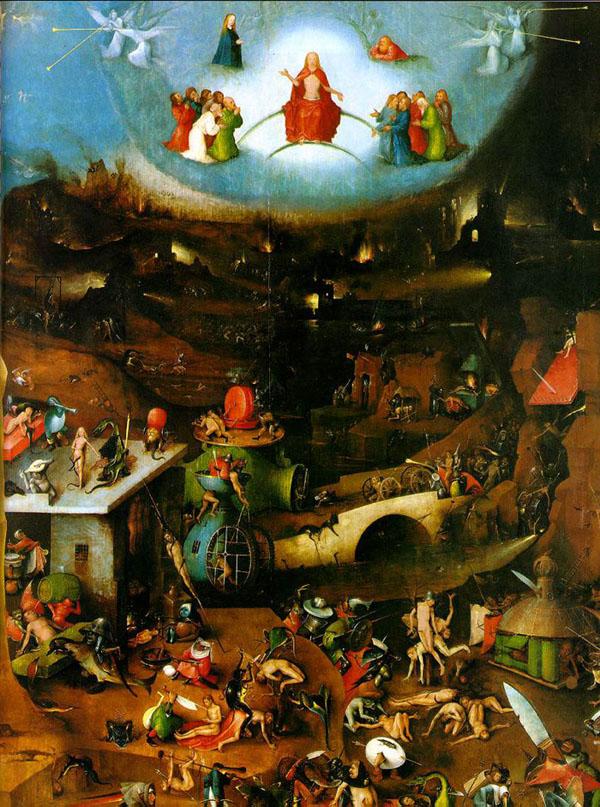 El Bosco, El Juicio Final. Tabla Central. Viena, Akademie der bildenden Künste