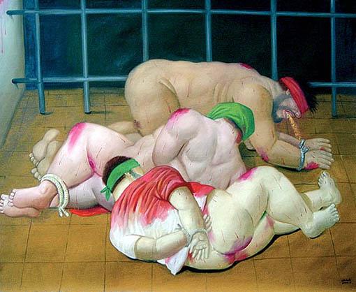 Serie de Botero sobre las torturas en Abu Ghraib