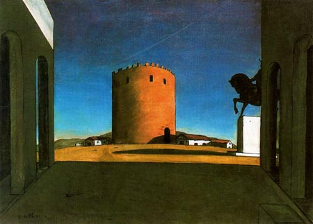 Chirico. La torre roja. 1914