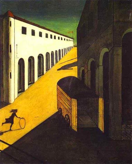 Chirico. Misterio y melancolía de una calle. 1914