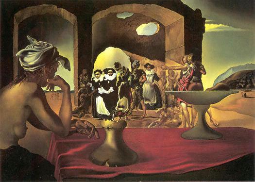 Mercado de esclavos con busto de Voltaire (1940)