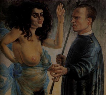 Otto Dix. Autorretrato con musa. 1924.