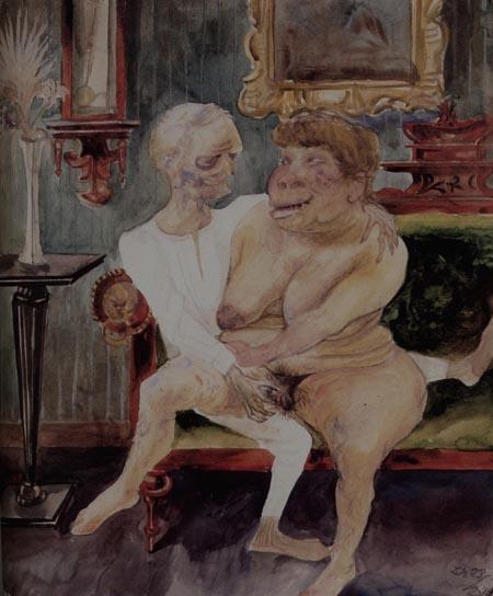 Otto Dix. Dos amantes viejos. 1923