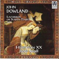 Cubierta del CD de las Lachrimae de Dowland interpretadas por Jordi Savall