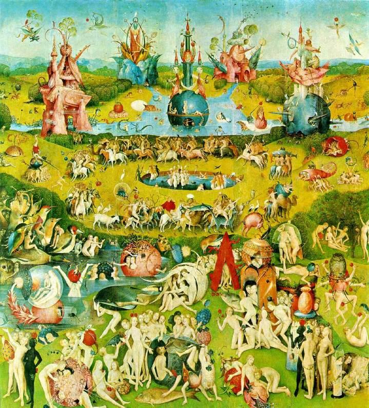 El Bosco. El Jardin de las delicias. Panel central. 1510.