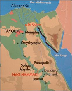 Localización del yacimiento de Nag Hammadi