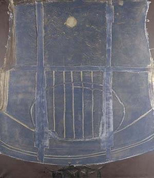Antoni Tapies. Azul LXIX