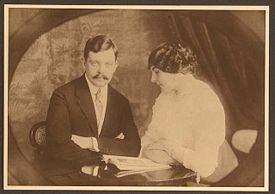 Sergei Pakejeff, el Hombre de los Lobos, con su esposa en 1910