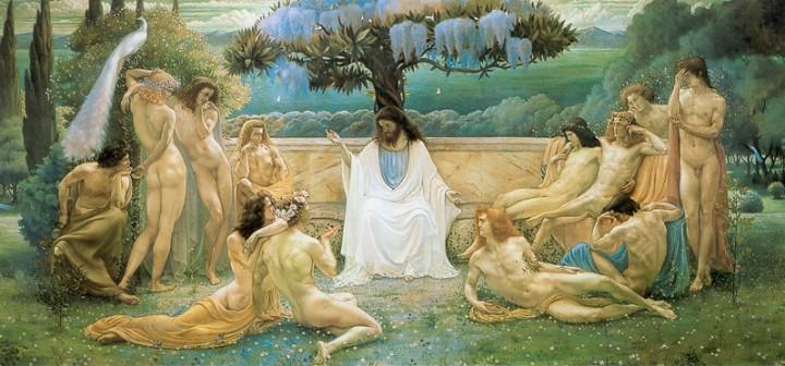 Jean Delville (1867-1953) La escuela de Platón 1898.