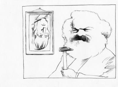 José Luis Cano: Marx cuelga el retrato de Hegel