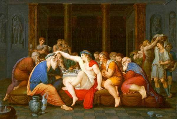 El Banquete de Platón Giambattista Gigola ca. 1790 Musei Civici di Arte e Storia, Brescia ( http://ficus.pntic.mec.es/~wque0012/filantigua/platon/05_imagenes.htm)