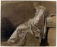 """Platón. Estudio para la """"Muerte de Sócrates"""" Jacques Louis David Musée Magnin, Dijon"""
