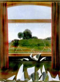 René Magritte, La Clef de champs.  (La llave de los campos,1936, Thyssen-Bornemisza, Madrid)