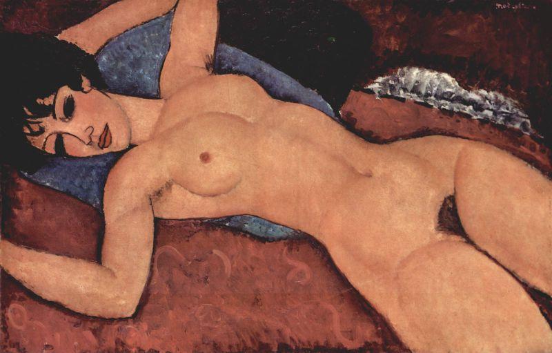 Modigliani, Desnudo rojo, 1917, Colección Mattioli, Milán