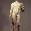 Policleto, Doríforo, s. V a C., Museo Arqueológico Nacional, Nápoles