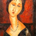 Modigliani, Retrato de Jeanne Hébuterne, 1917, colección privada, Washington.