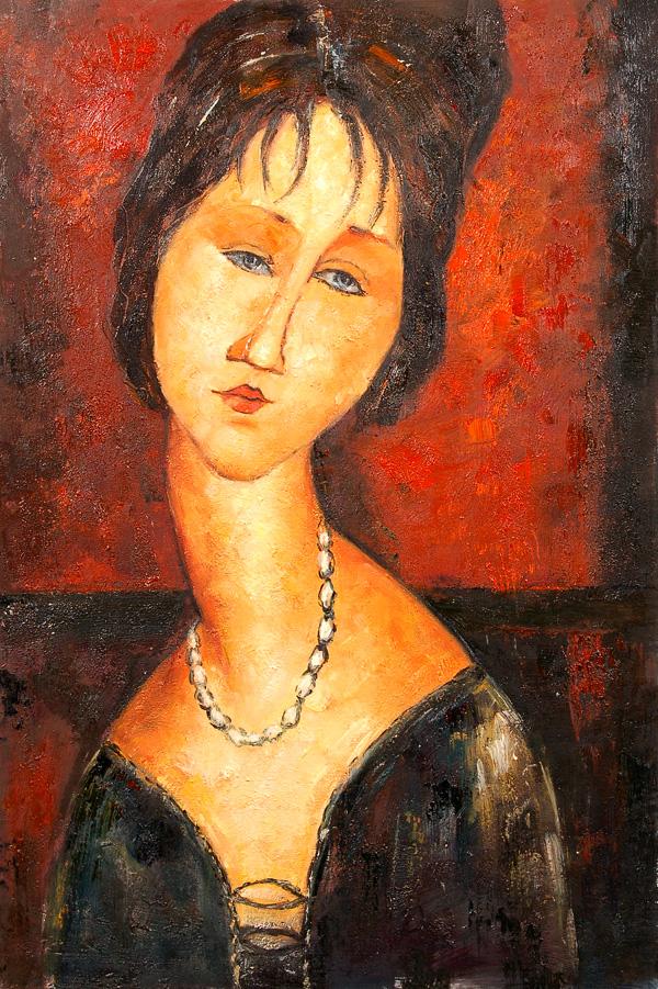 Retrato de Jeanne Hébuterne, 1917, colección privada, Washington.