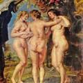 Rubens, Las tres gracias, 1639, Museo del Prado.