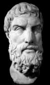 Epicuro (341-270). Copia romana del original griego, s III a. C. Museo británico, Londres.