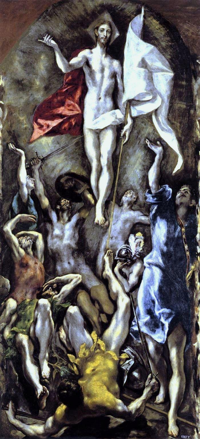 El Greco: Resurrección, 1595, El Prado.