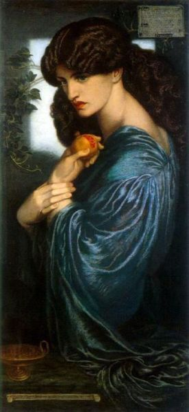 Rossetti: Proserpine o Perséfone, 1874