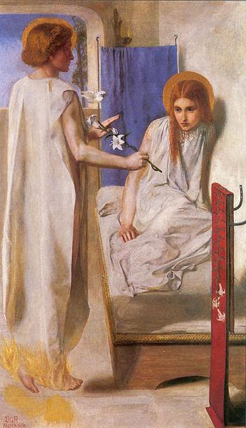 Rossetti: La anunciación, 1850