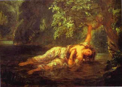Delacroix: La muerte de Ofelia, 1853