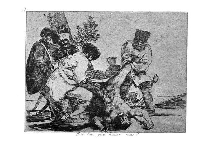 Goya, Los desastres de la guerra, ¿Qué más puede uno hacer?, 1808