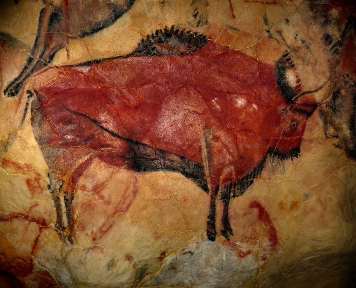Cuevas de Altamira: Bisonte, panel principal