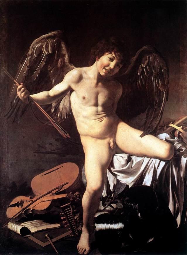Caravaggio: El amor victorioso. 1602. Gemäldegalerie, Berlín.