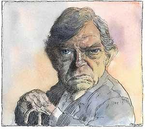 Robert Hughes, caricatura