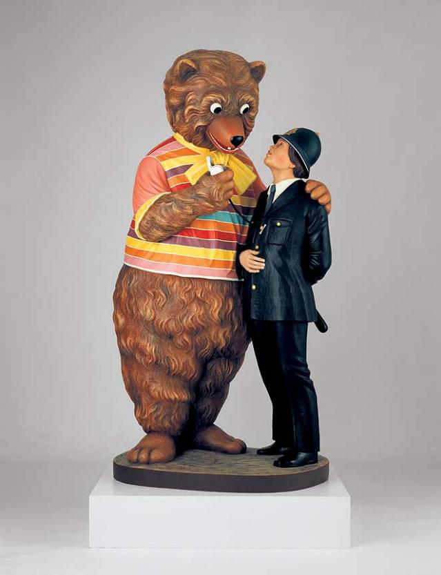 Jeff Koons, Bear and Policeman (1988) MOMA