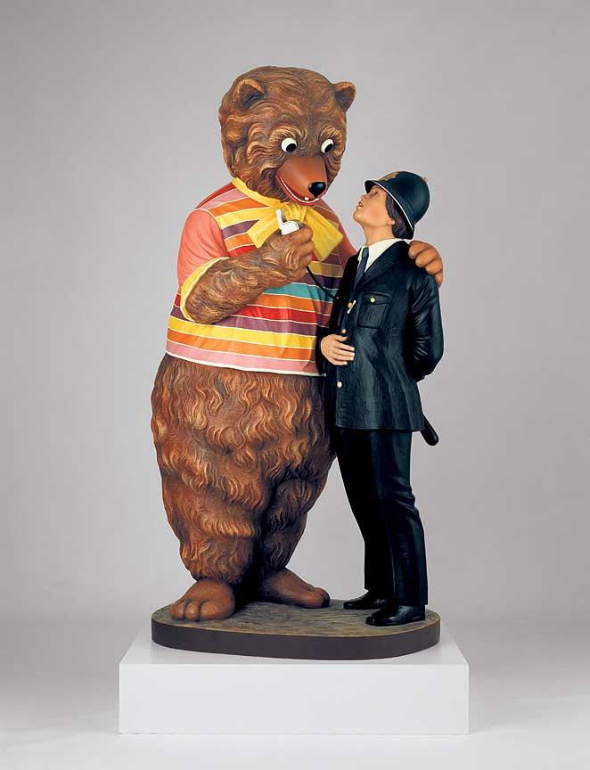 Jeff Koons, Bear and Policeman (1988) MOMA