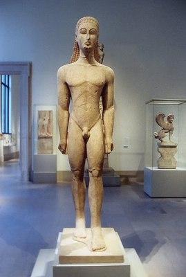 Kouros. Metropolitan Museum of Art, New York, 590 a. C.