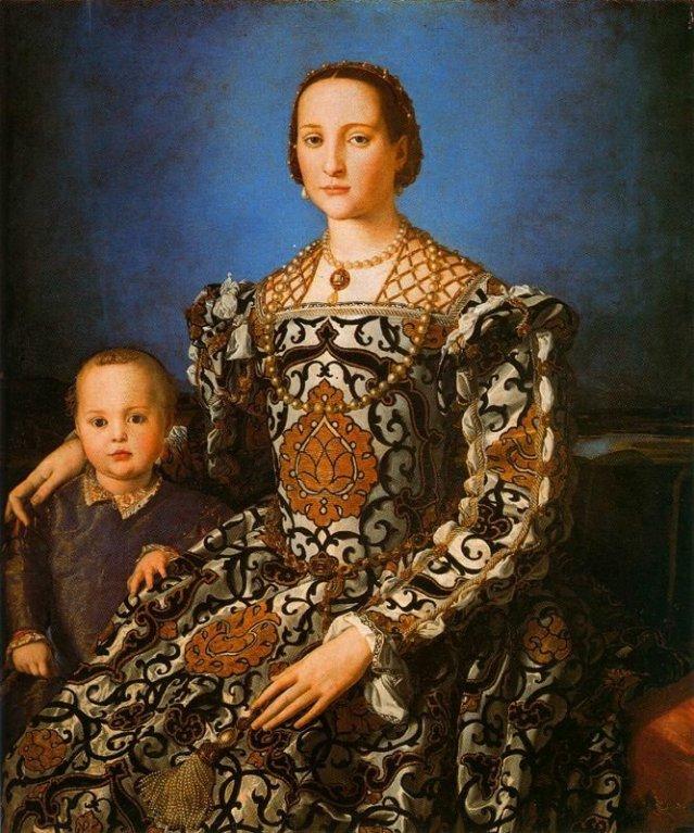 Agnolo Bronzino: Leonor de Toledo y su hijo Giovanni de Médicis (1545)