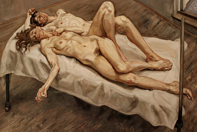 Lucien Freud: Dos mujeres, 1992